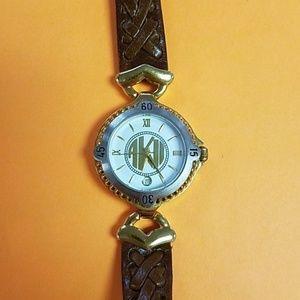 Anne Klein Quartz Leather Watch